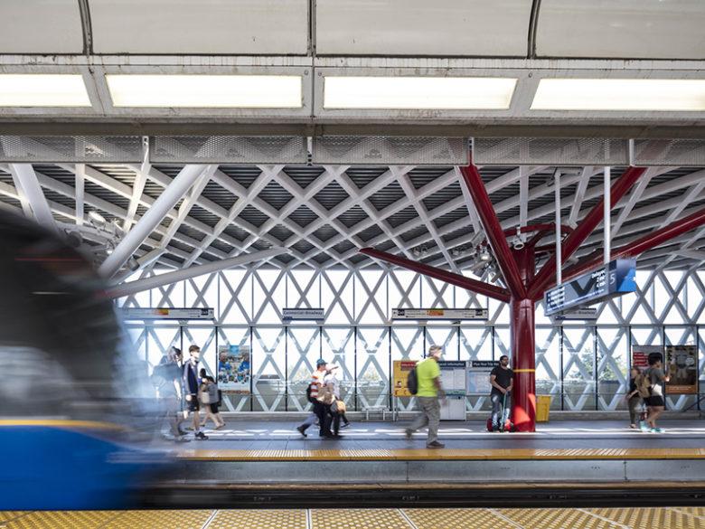 Platform of Commercial Broadway Station