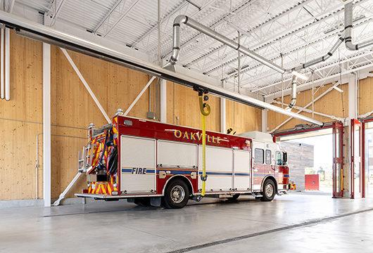 Interior of Oakville Fire Station